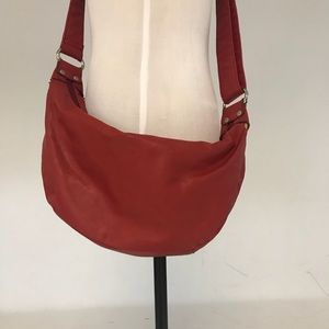 Vintage red crossbody purse